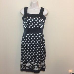 BCBG Max Azria polka dot zebra print dress XS